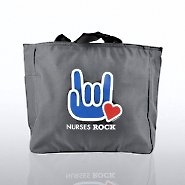 Tote Bag - Nurses Rock - Hand with Heart