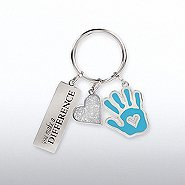 Simply Charming Key Chain - You Make a Difference Hand