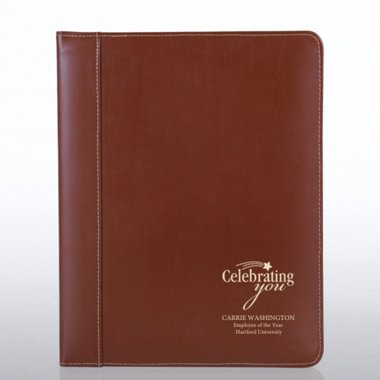 Genuine Leather Padfolio - Brown