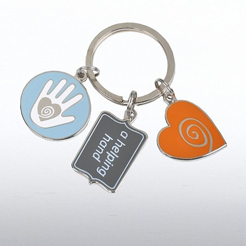 Helping Hand Simply Charming Key Chain