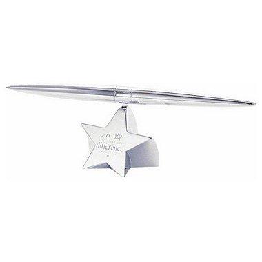Paperweight - Silver Star w/Pen - YMTD