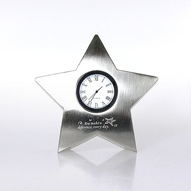 Star Paperweight Desk Clock - Starfish