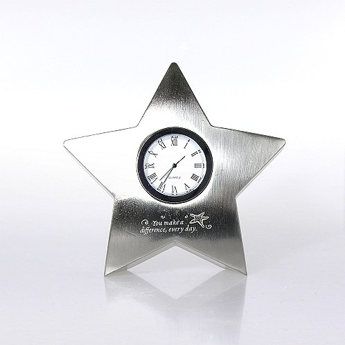 Starfish Star Paperweight Desk Clock