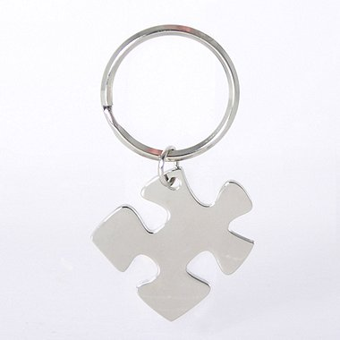 Nickel-Finish Key Chain - Essential Piece