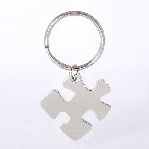 Essential Piece Nickel-Finish Key Chain