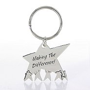 Nickel-Finish Key Chain - Team Star: Making the Difference