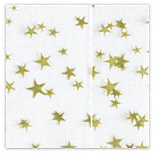 White w/ Gold Stars Tissue Paper