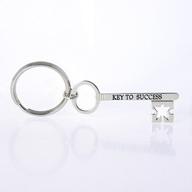 Nickel-Finish Key Chain - Key to Success