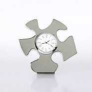 Silver Themed Desk Clock - Essential Piece