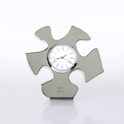 Essential Piece Silver Themed Desk Clock