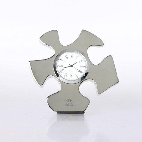 Essential Piece Silver Themed Desk Clock