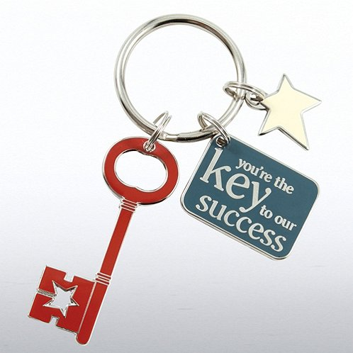 Key to Success Simply Charming Key Chain