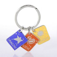 Simply Charming Key Chain - Imagine Believe Achieve