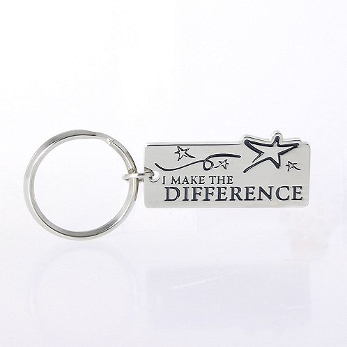 I Make the Difference Nickel-Finish Key Chain