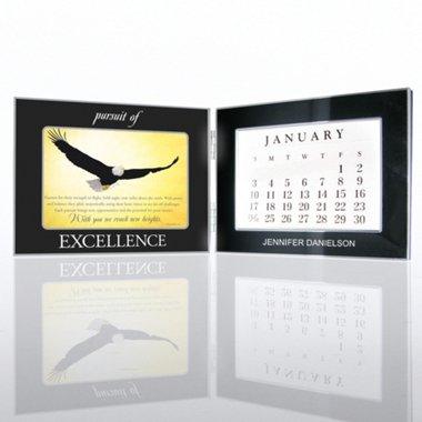 Perpetual Desk Calendar - Eagle: Pursuit of Excellence