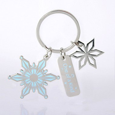 Simply Charming Key Chain - Holiday Snowflake