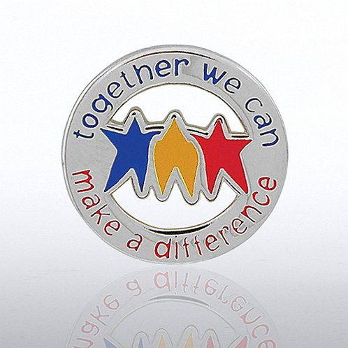 Together We Can Make a Difference - Round Lapel Pin