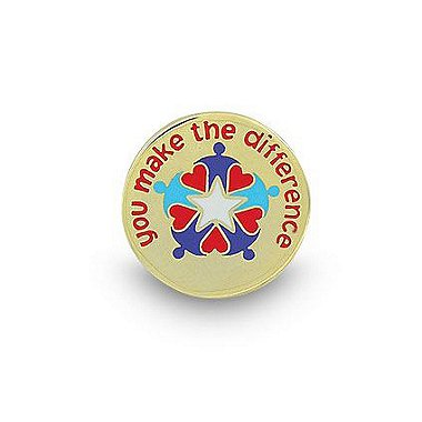 Lapel Pin - You Make the Difference Hearts & People