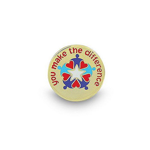 You Make the Difference Hearts & People Lapel Pin