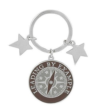 Simply Charming Key Chain - Compass: Leading By Example