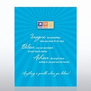 Character Pin - Imagine Believe Achieve