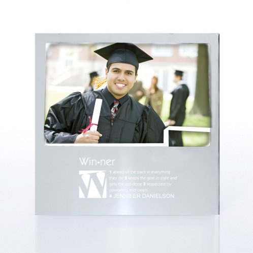 Silver Defining Moments Engravable Photo Frame