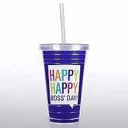 Twist Top Tumbler - Happy, Happy Boss' Day!