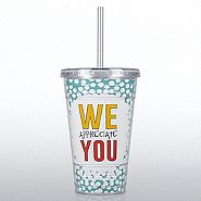 Twist Top Tumbler - Dots: We Appreciate You