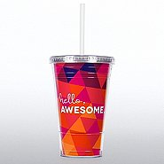 Twist Top Tumbler -  Hello, Awesome