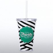 Twist Top Tumbler - Thanks for All You Do - Stripes