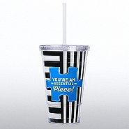 Twist Top Tumbler - You're an Essential Piece - Stripes