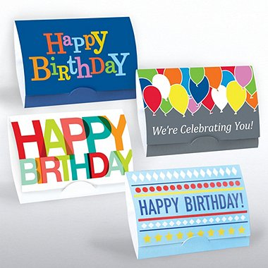 Gift Card Sleeves - Happy Birthday