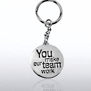 Nickel-Finish Key Chain - Teamwork