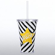 Twist Top Tumbler - You Totally Rock - Stripes