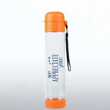 Flip Top Water Bottle - We Appreciate You