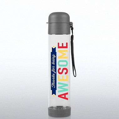 Flip Top Water Bottle - Thanks for Being Awesome