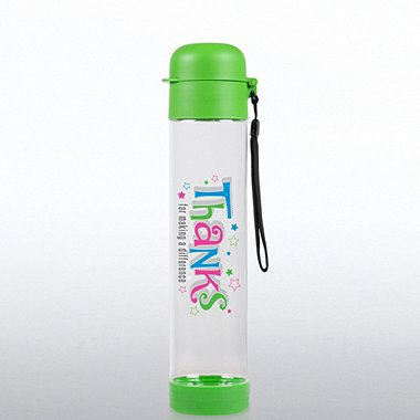 Flip Top Water Bottle - Thanks for Making a Difference