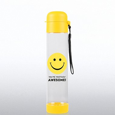 Flip Top Water Bottle - Positively Awesome