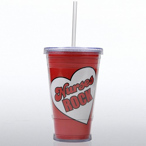 Nurses Rock Twist Top Tumbler