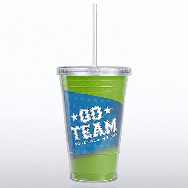 Twist Top Tumbler - Go Team