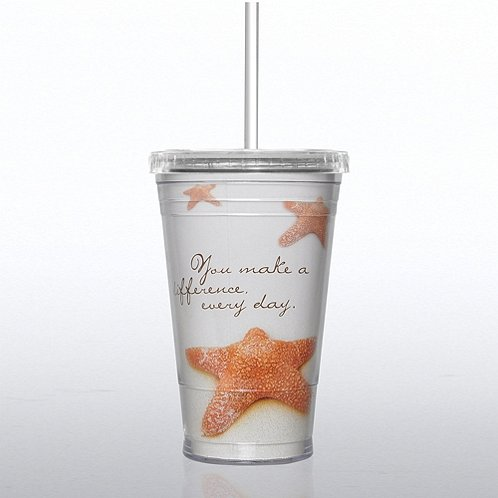 Starfish: Making a Difference Twist Top Tumbler