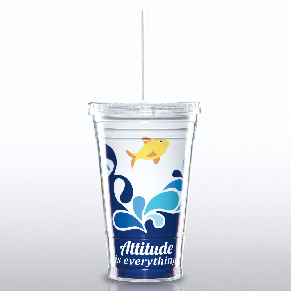 Attitude is Everything Twist Top Tumbler