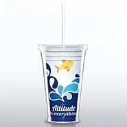 Twist Top Tumbler - Attitude is Everything Splash