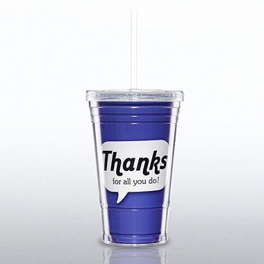 Twist Top Tumbler - Positive Praise - Thanks
