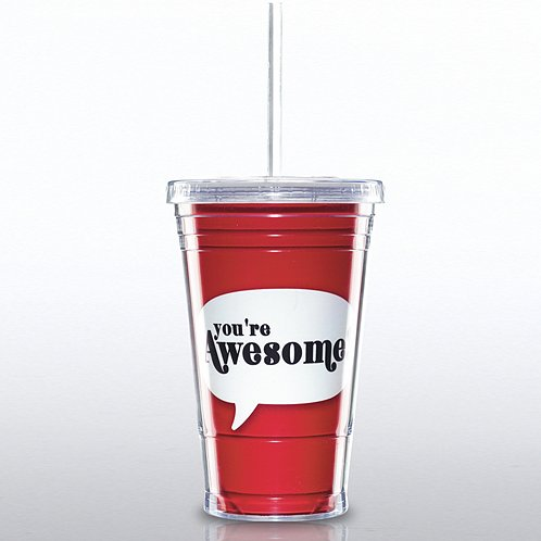Twist Top Tumbler: You're Awesome
