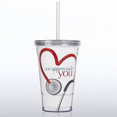 Twist Top Tumbler - Stethoscope: We Appreciate You