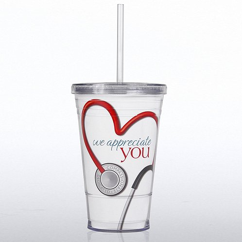 Stethoscope We Appreciate You Twist Top Tumbler