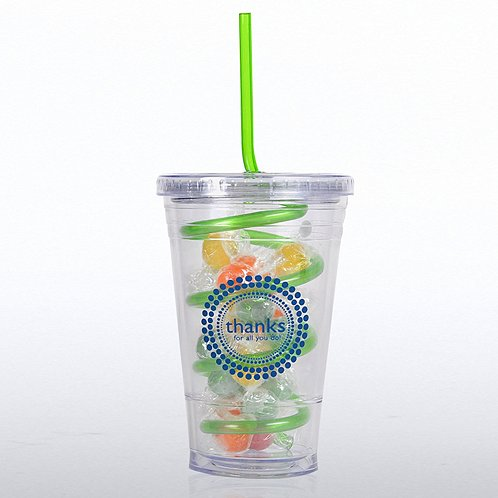 Thanks for All You Do! Candy-Filled Twist Top Tumbler