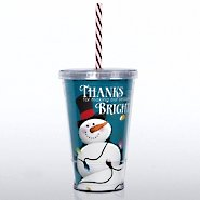 Twist Top Tumbler - Snowman: Thanks for Making Season Bright