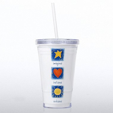 Twist Top Tumbler - Imagine Believe Achieve